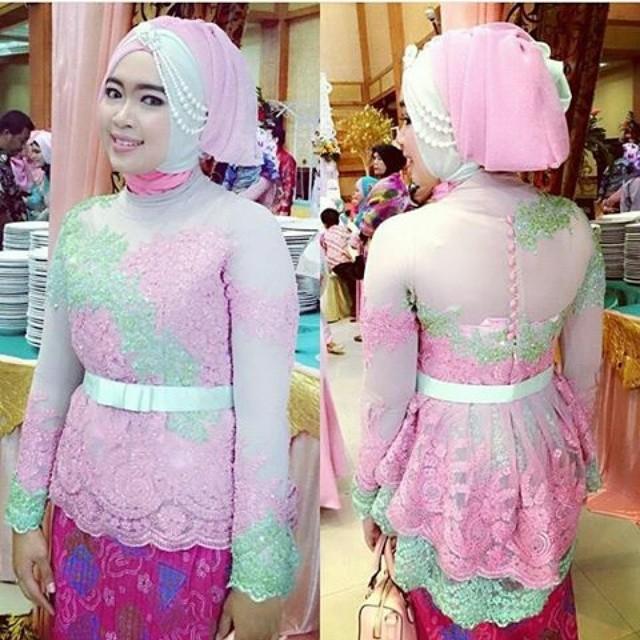 Baju Kebaya Warna Pink Hijabnya Hijab Style