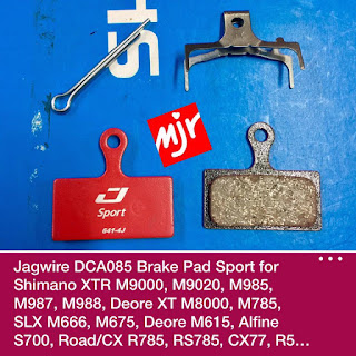 Brake Pad Jagwire untuk Brake Caliper Shimano Deore m615 Slx m666-m675 Xt m8000- m785 Xtr m9000-m9020-m985-m98-m988