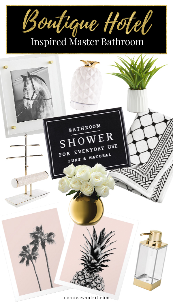Boutique hotel inspired master bathroom refresh.