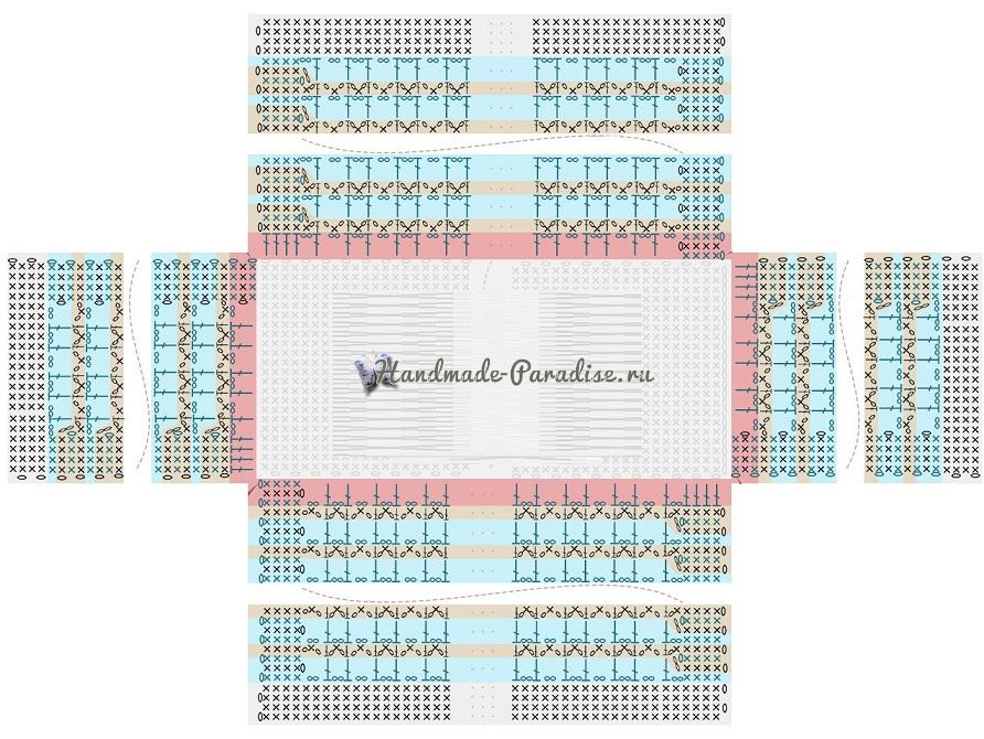 Схемы вязания летней сумки из бумажной рафии (2)