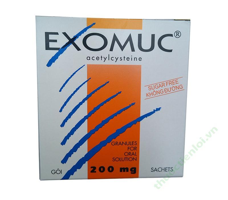 Thuốc Exomuc (acetylcysteine 0.2g)