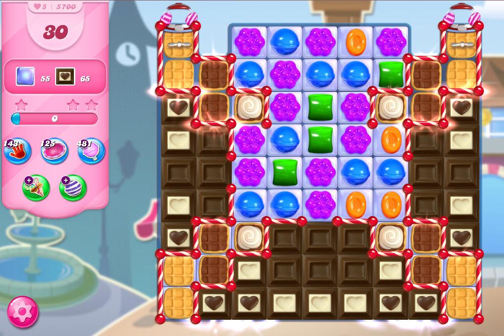 Candy Crush Saga level 5700