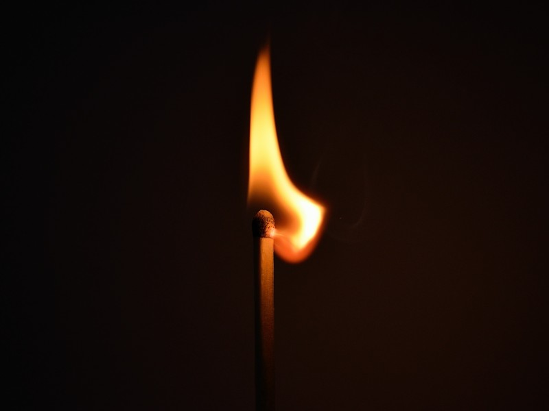 Download Lighted Burning Matchstick HD wallpaper. Click Visit page Button for More Images.
