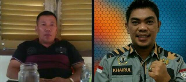 Sekretaris Mabmi Asahan Ok Rasyid dan Ketya GM Pekat IB Asahan Khairul Anhar Harahap.