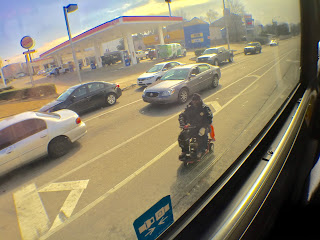 Wheelchair user in traffic