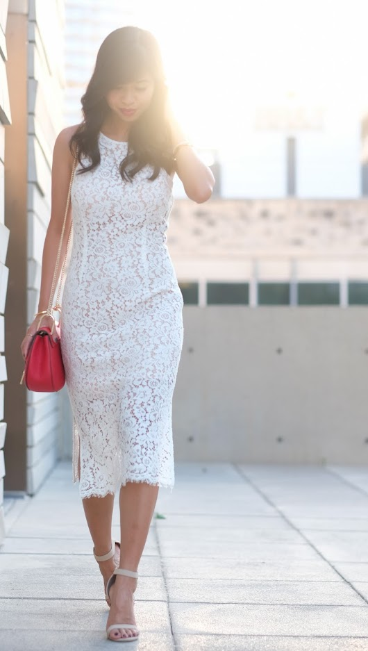 The Tasteful Me: Sweet Summer | Lace White Dress