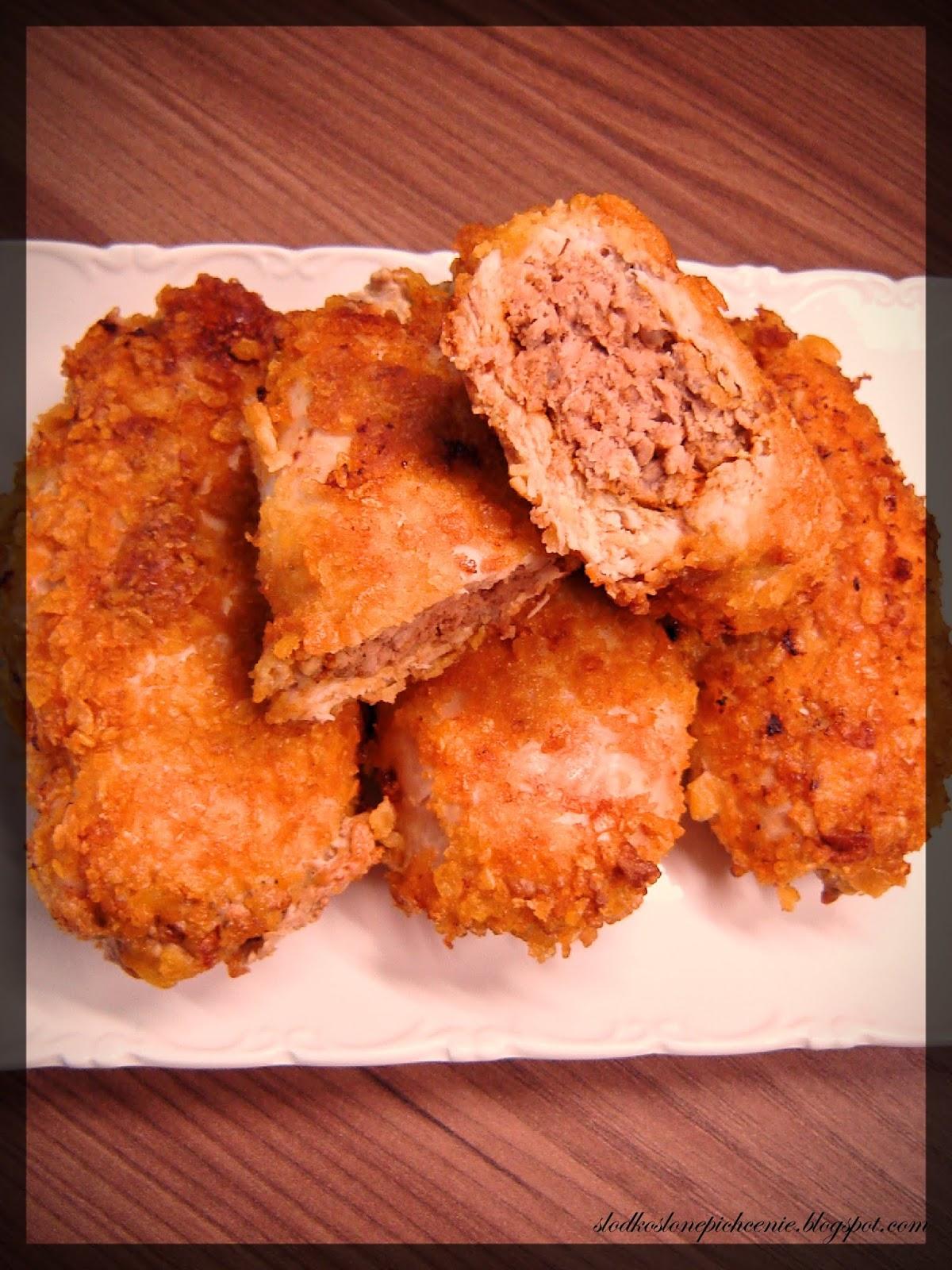 roladki z kurczaka z mięsem mielonym