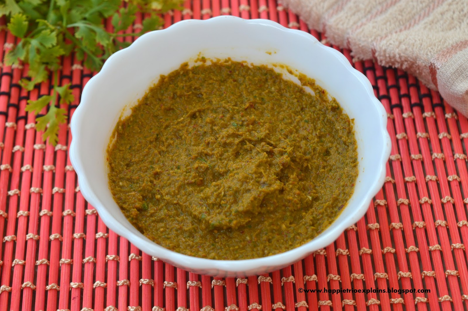 how to make green chutney for tandoori