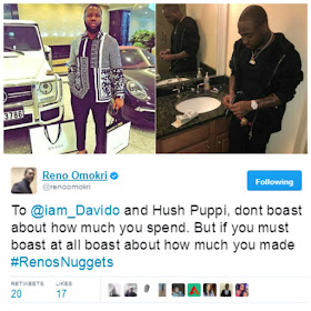 Reno Omokri weighs in on Davido and Hushpuppi's brouhaha