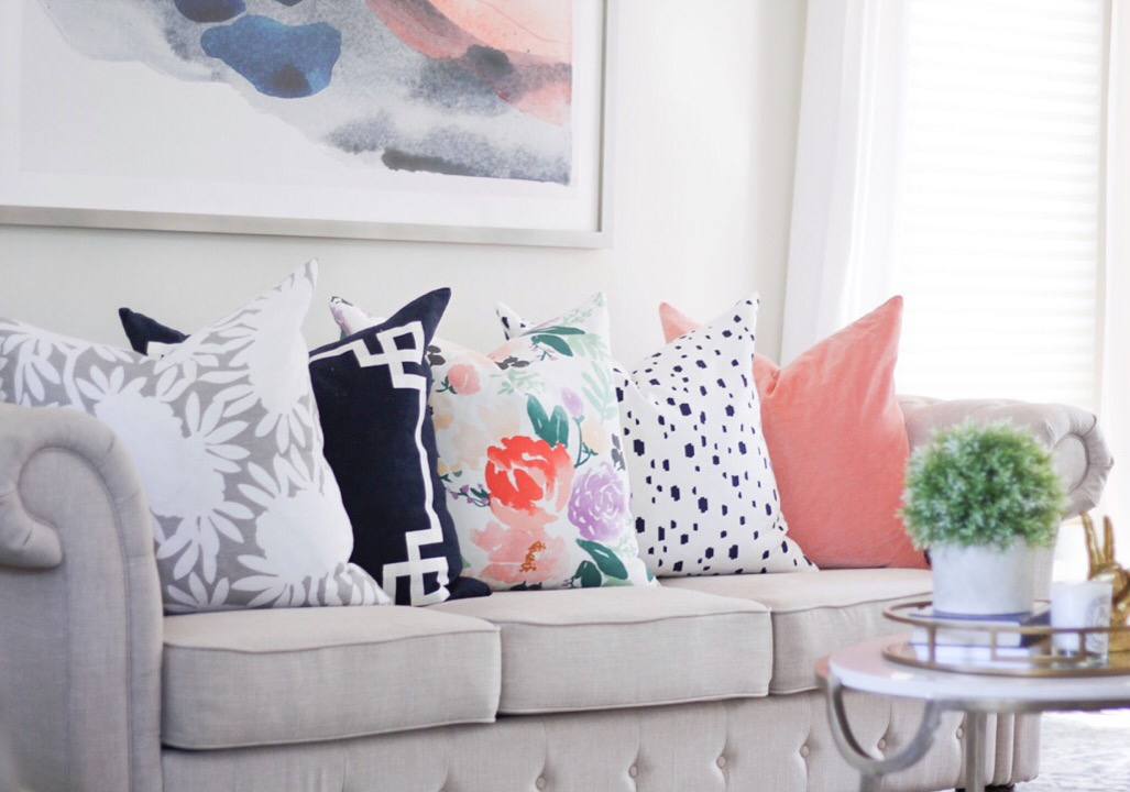 Talking pillows with Caitlin Wilson Design - Kiss Me Darling