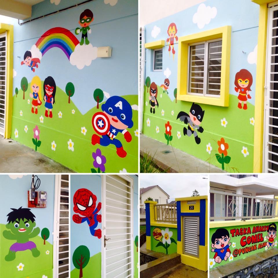 Warna arts mural taska anakku comel for Mural untuk taska