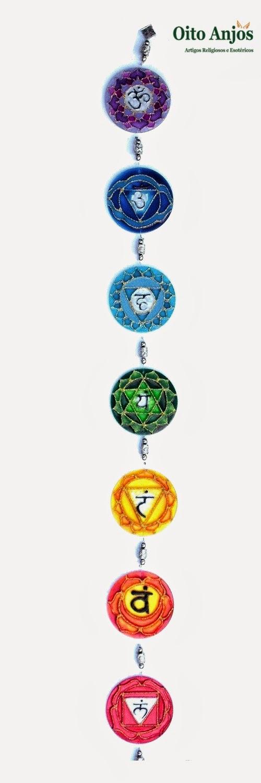 7 Chakras - Sete Chakras * Oito Anjos Artigos Religiosos e Loja Esotérica