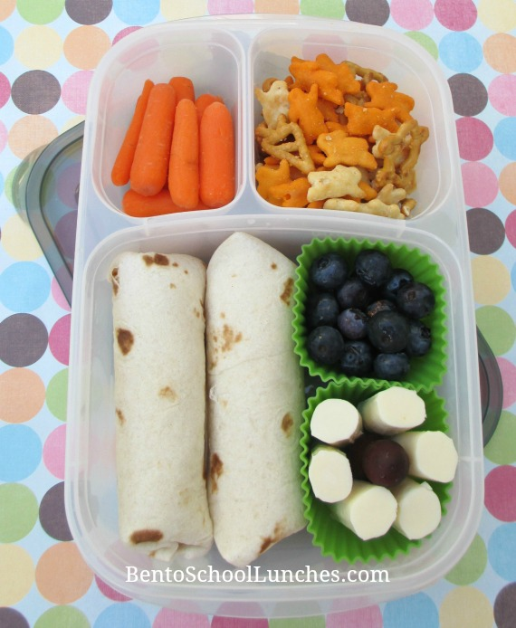 Tortilla wraps, bentos chool lunches