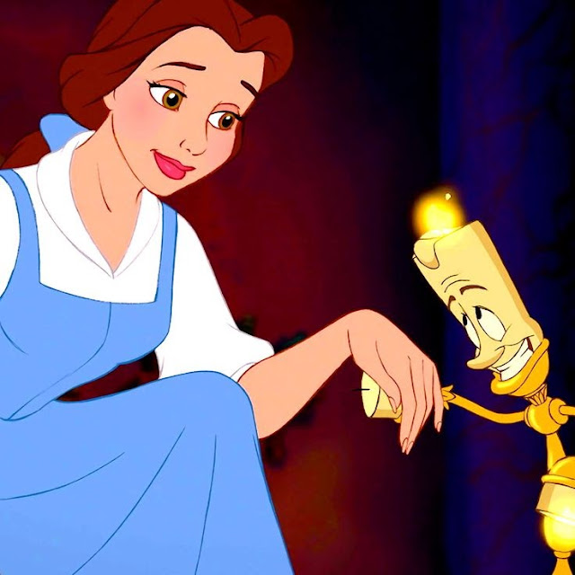 Belle Lumière Beauty and the Beast 1991 animatedfilmreviews.filminspector.com