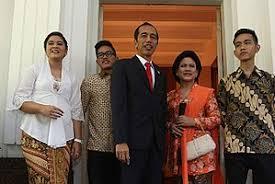 Keluarga Presiden Jokowi Joko Widodo