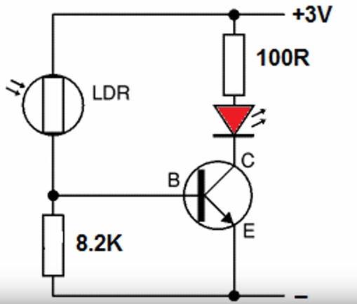 Light sensor using LDR ~ Simple Projects