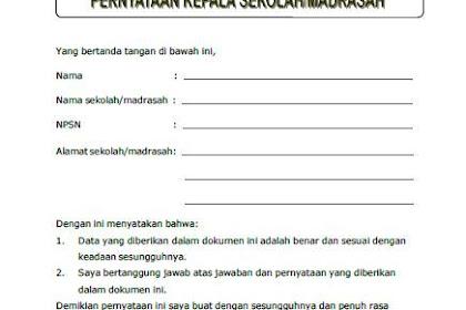 Surat Pernyataan Kesesuaian Data Dokumen Akreditasi
