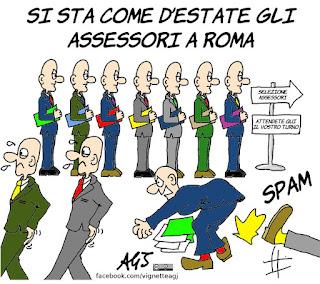 roma, raggi, giunta, assessori, dimissioni, vignetta, satira