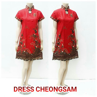 Dress Batik Cheongsam