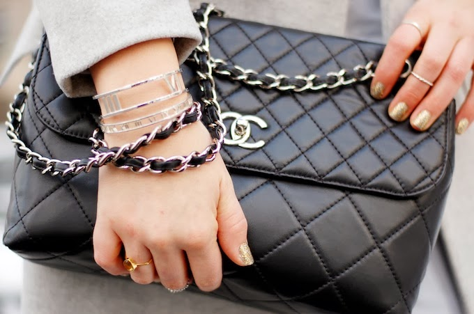 Chanel ITB handbag and Tiffany & Co. Atlas Collection