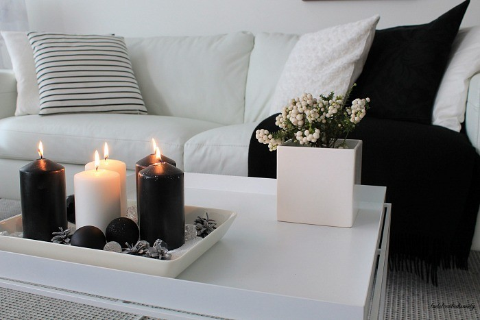 black and white scandinavian decor