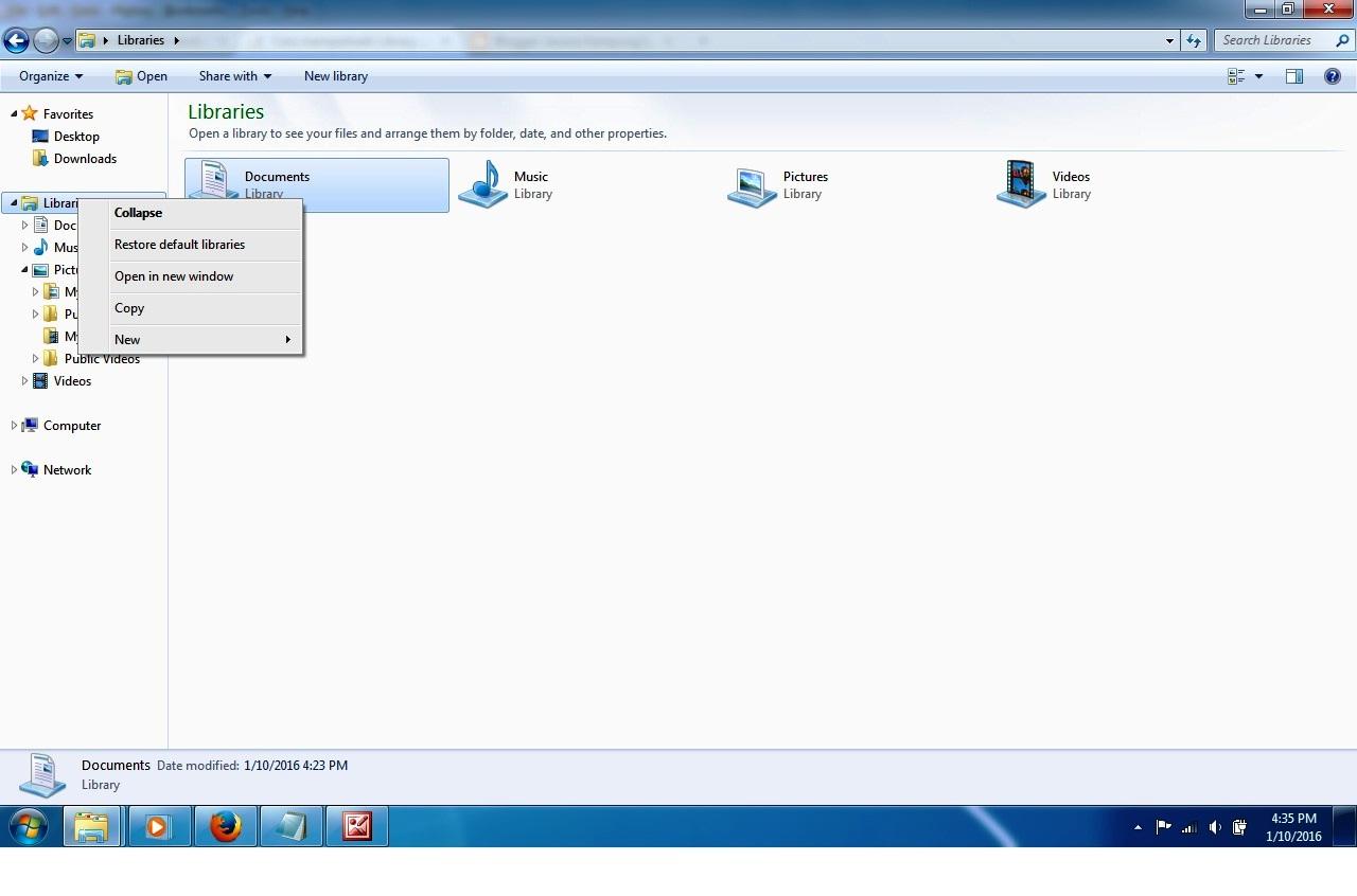 Cara Memperbaiki Library default yang rusak di Windows