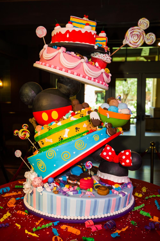 Mickeys 90th Birthday Celebration Cake At Disneys Grand Californian Hotel
