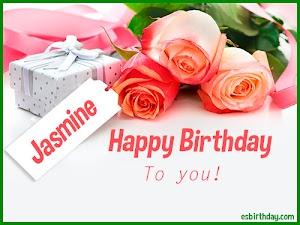 Happy Birthday Jasmine