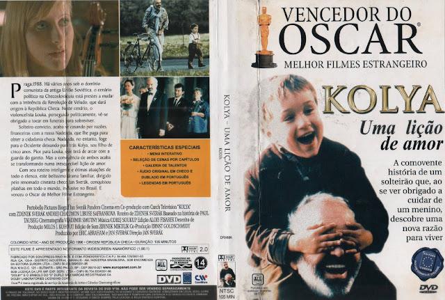 Capa DVD Kolya Uma Lição De Amor
