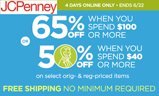 3706c8ad3c JCPenney Free Shipping on All Order + 50% off  40 Order or 65% off  100  Order of Original   Regular Priced Clothing