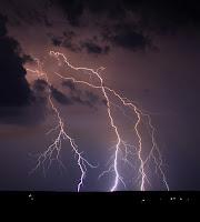Lightning over Pennsylvania