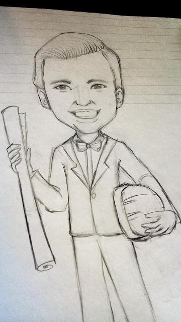 caricatura a lápiz