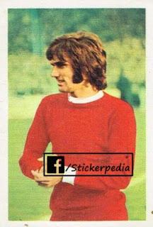 George Best Manchester United sticker FKS 1970 71