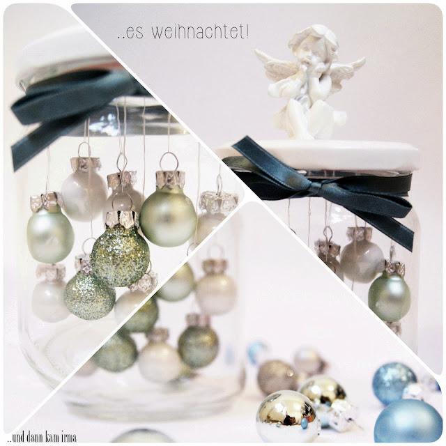 Anleitung, Deko-Aufsteller, DIY, Einmachglas, Engel, Mitbringsel, Tutorial, Weihnachtkugeln, Weihnachtsdeko, Weihnachtsgeschenk,