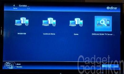 DVBLink Server über DLNA Zugriff am TV