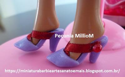 Sapatinhos Mule de Biscuit Para Bonecas Barbie Criados Por Pecunia MillioM