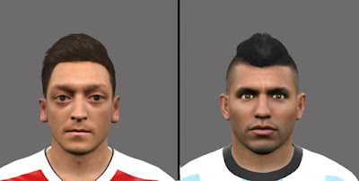 Mini Facepack ( Mesut Özil & Sergio Agüero ) by JR facemaker