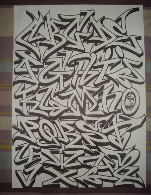 Blackbook Alphabet Graffiti Letters ♥°˚˚˚˚°♥ plate graffiti