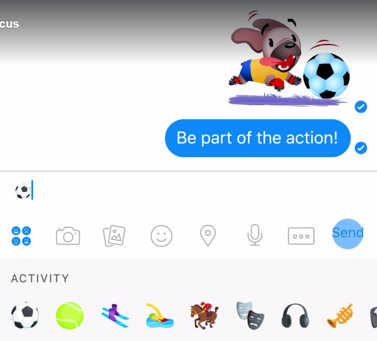 Gioca a calcio in chat su Facebook Messenger