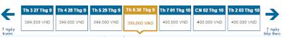 Giá vé máy bay đi Buôn Mê Thuột tháng 9 hãng Vietnam Airlines chiều về
