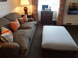 brown sofa in lennox room