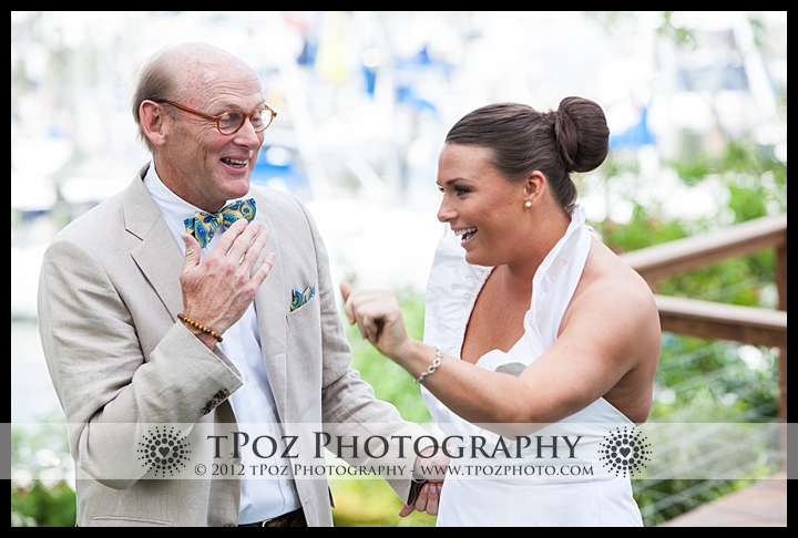 First Look Port Annapolis Marina Wedding