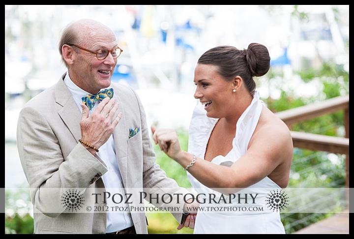 First Look Port Annapolis Marina Wedding