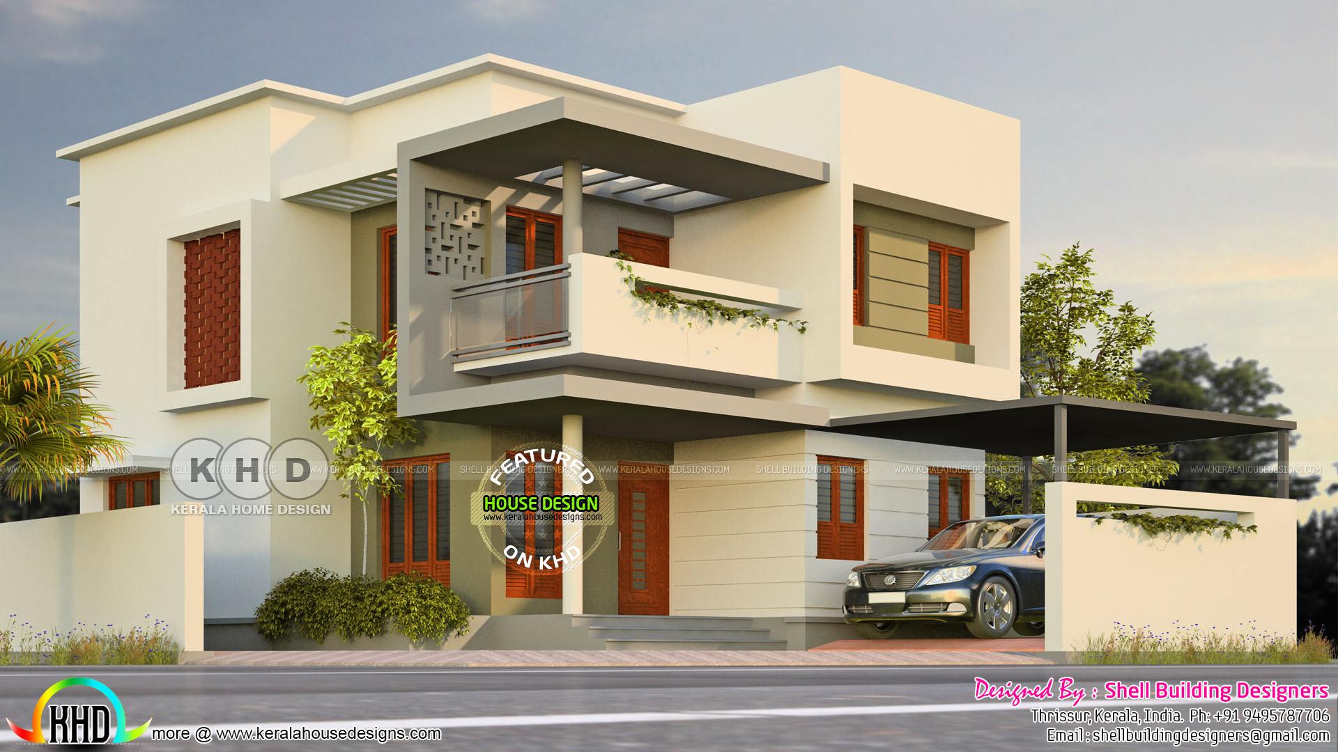 Corner Plot House Design Kerala Home Design Bloglovin