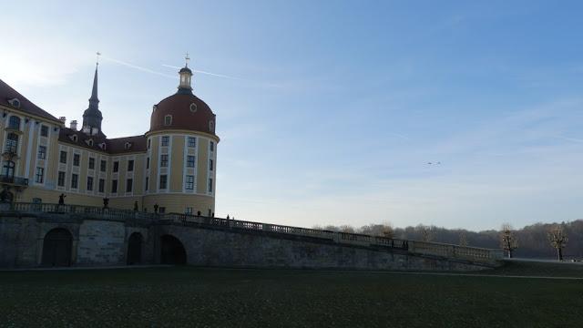Schloss Moritzburg - Rampe auf der Gartenseite