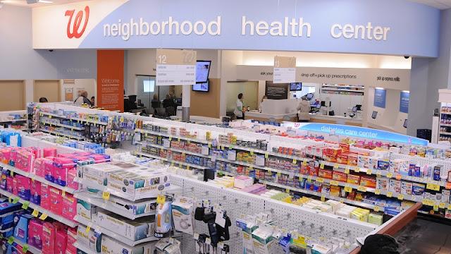 Produtos nas farmácias Walgreens na Califórnia