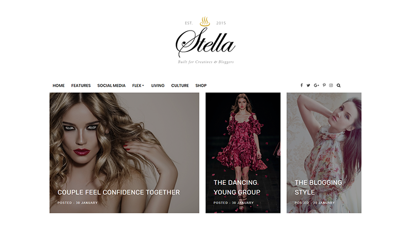 Stella - A Clean & Personal Blogger Template