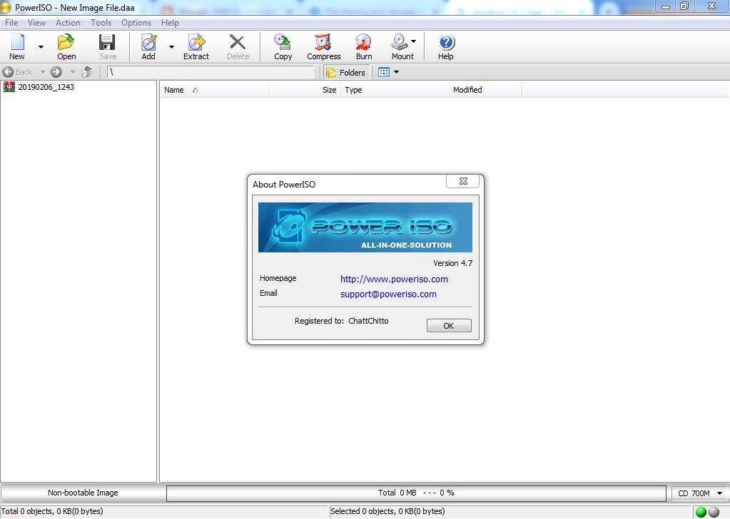 poweriso 4.7 bootable usb