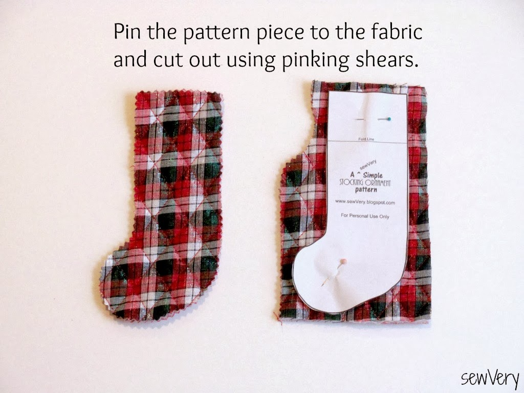 Sewvery A Sewvery Simple Stocking Ornament Tutorial