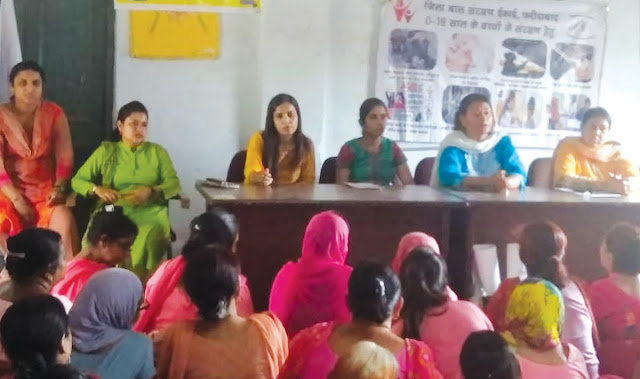 Anganwadi workers take oath to teach Beti Bachao daughter in NIT-2 block